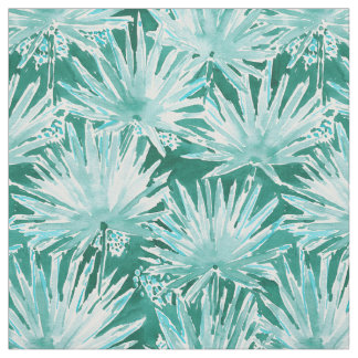 PALMETTO PARADISE Green Tropical Leaves Pattern Fabric