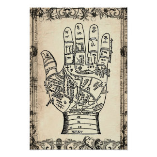 Palmistry Fortune Teller Hand Poster Print