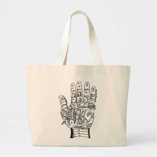 Palmistry Hand Map Large Tote Bag