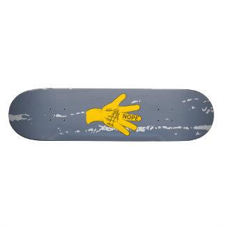 Palmistry Nope Funny Hand 21.6 Cm Skateboard Deck