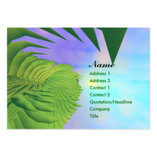 Palms Above - Chubby Business Card Templates