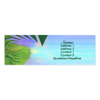 Palms Above - Skinny Business Card Templates