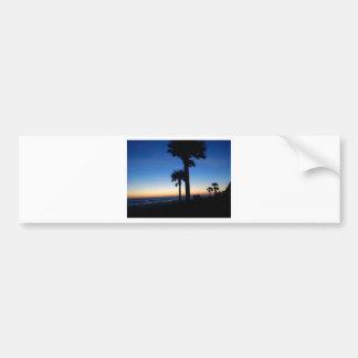 Palms in the sunset bumper sticker
