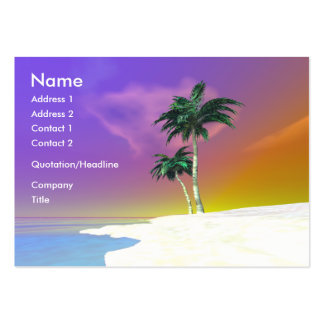 Palms on White - Chubby Business Card Template