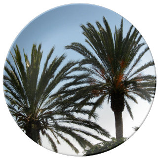 Palms Palma Photo Summer Decorative Porcelain Plat Plate