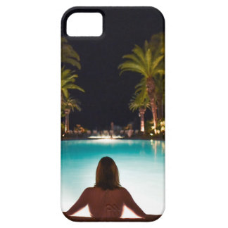 Palms, pool, woman and beer... iPhone 5 cover