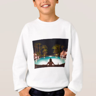 Palms, pool, woman and beer... sweatshirt