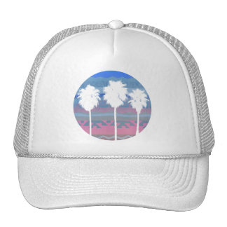 Palms Trees in Aztec Sunset Mesh Hats
