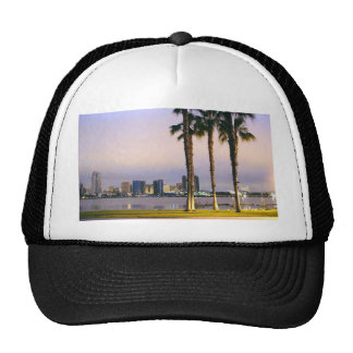 Palms Trees On Piers Mesh Hats
