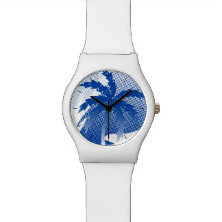 Palms with abstract water watch