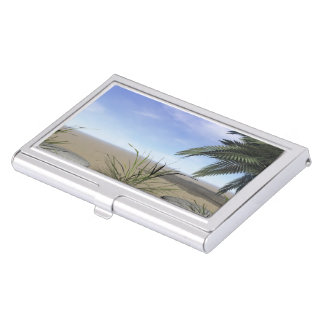 palms zen and steps business card holder