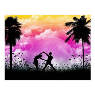 Palmtree Romance Postcard