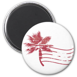 Palmtree rubber stamp refrigerator magnet