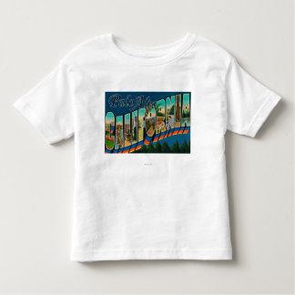 Palo Alto, California - Large Letter Scenes Tshirts