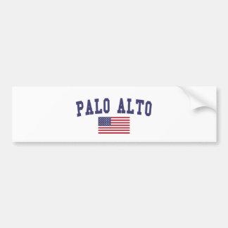 Palo Alto US Flag Bumper Sticker