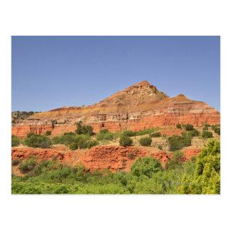 Palo Duro Canyon, Texas.  Successive rock layers Postcard