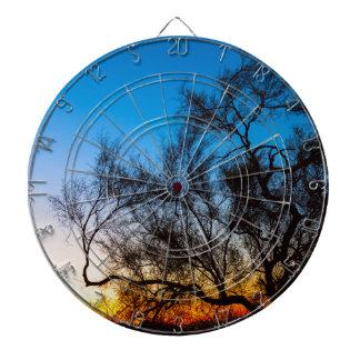 Palo Verde Tree Silhouette Sunrise Dartboard