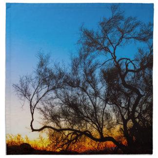 Palo Verde Tree Silhouette Sunrise Napkin