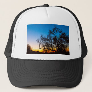Palo Verde Tree Silhouette Sunrise Trucker Hat