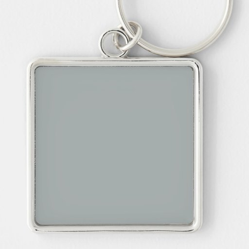 Paloma Grey Light Gray Silver Trend Color Template Keychains