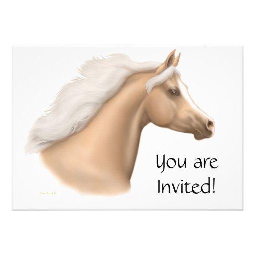 Palomino Arabian Horse Party Invitation