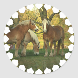 Palomino Draft Horses Stickers