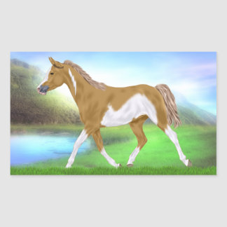 Palomino Frame Overo Paint Horse Rectangular Sticker