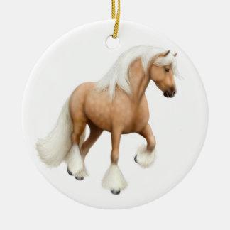 Palomino Gypsy Cob Horse Ornament