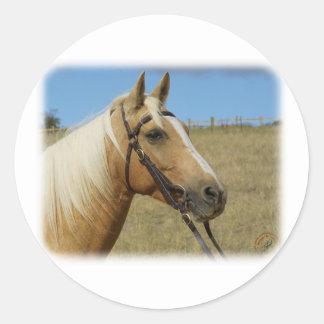 Palomino Horse 9R015D-184 Classic Round Sticker