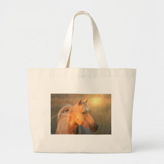 Palomino Horse in Light Canvas Bag