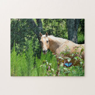 Palomino Horse in Pasture Jigsaw Puzzle