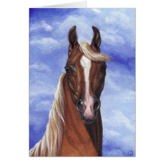 PALOMINO HORSE Note Card