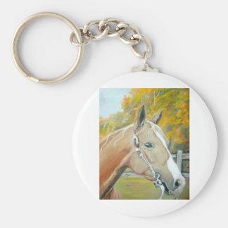 Palomino, Horse pastel Key Ring