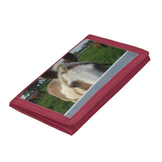 Palomino Horse Playing Peek a Boo Trifold Wallets