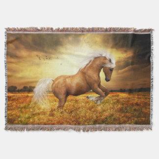 Palomino Horse Throw Blanket