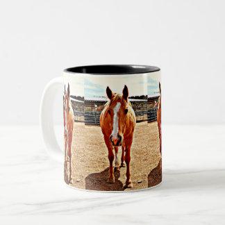 Palomino Horse Two Toned Coffee Mug