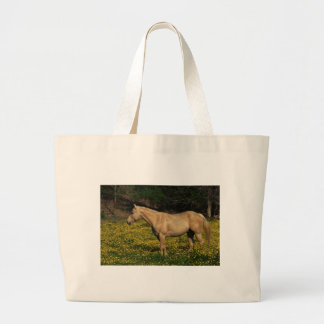 Palomino in Yellow Flowers Large Tote Bag