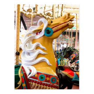 Palomino Looff Carousel Horse Postcard
