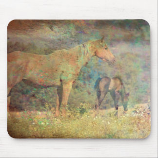 Palomino Mare and Foal Mouse Pad