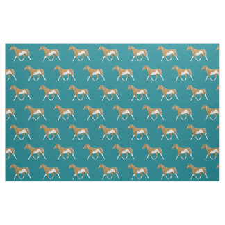 Palomino Paint Horse Fabric