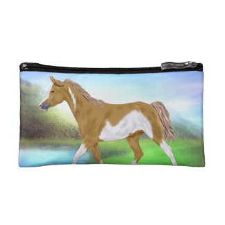 Palomino Paint Horse Makeup Bag