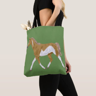 Palomino Paint Horse Tote Bag