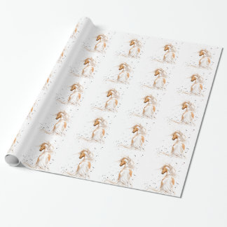 Palomino Paint Pinto Horse -BiHrLe Wrapping Paper
