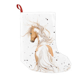 Palomino Paint Pony by Bihrle Christmas Stocking