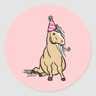 Palomino Party Pony Classic Round Sticker