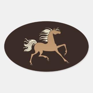 Palomino Silhouette Oval Sticker