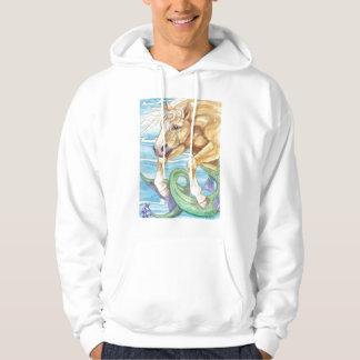 Palomino Unicorn Sea Horse Fantasy Art Hoodie