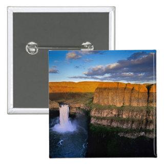 Palouse Falls in Washington 15 Cm Square Badge