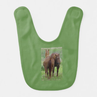 Pals, two horses side by side bib