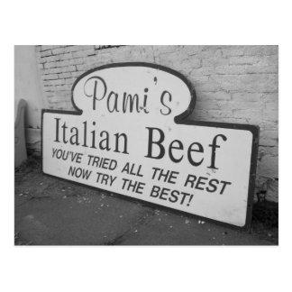 Pami's Italian Beef Postcard
